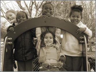 smiling children on playground